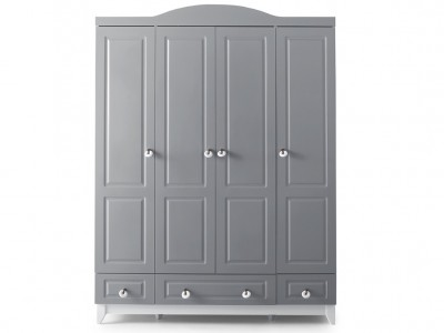 Grey 4 Kapılı Dolap