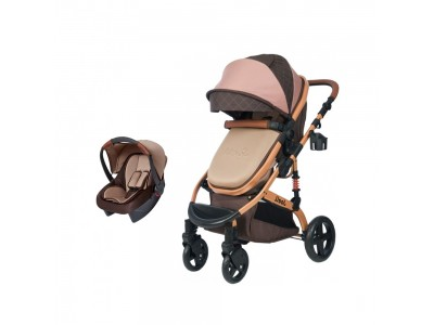 Joell Truva Travel Sistem Bebek Arabası Kahverengi